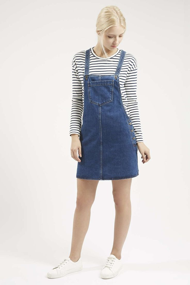 Photo 2 of MOTO Denim Pocket Pinafore Dress