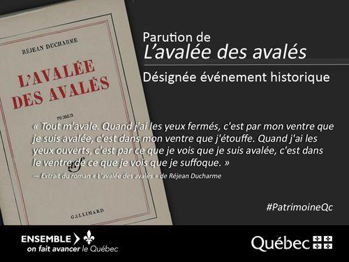 Publié le 16 septembre 1966, le roman L'avalée des avalés demeure à ce jour l'une des œuvres québécoises les plus connues à travers le monde. #PatrimoineQc #RPCQ