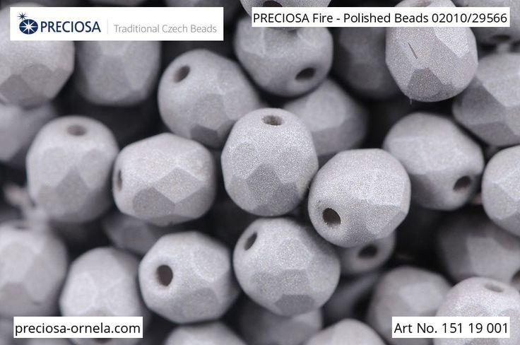 PRECIOSA Fire-Polished Beads - 151 19 001 - 02010/29566 - Grey | by PRECIOSA ORNELA