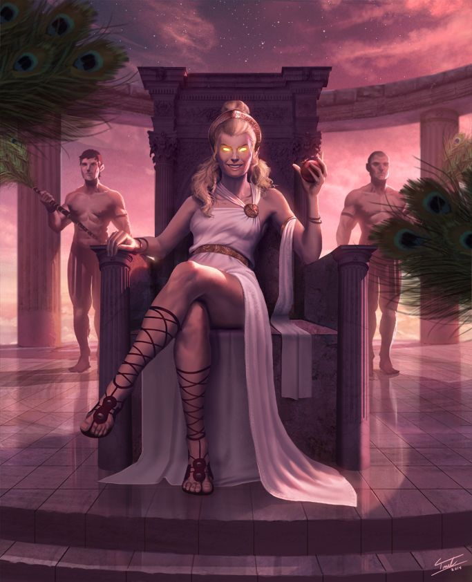 Hera, chilling on her throne, by ForrestImel.deviantart.com on @deviantART