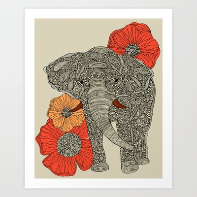 The Elephant Art Print by Valentina - $18.00