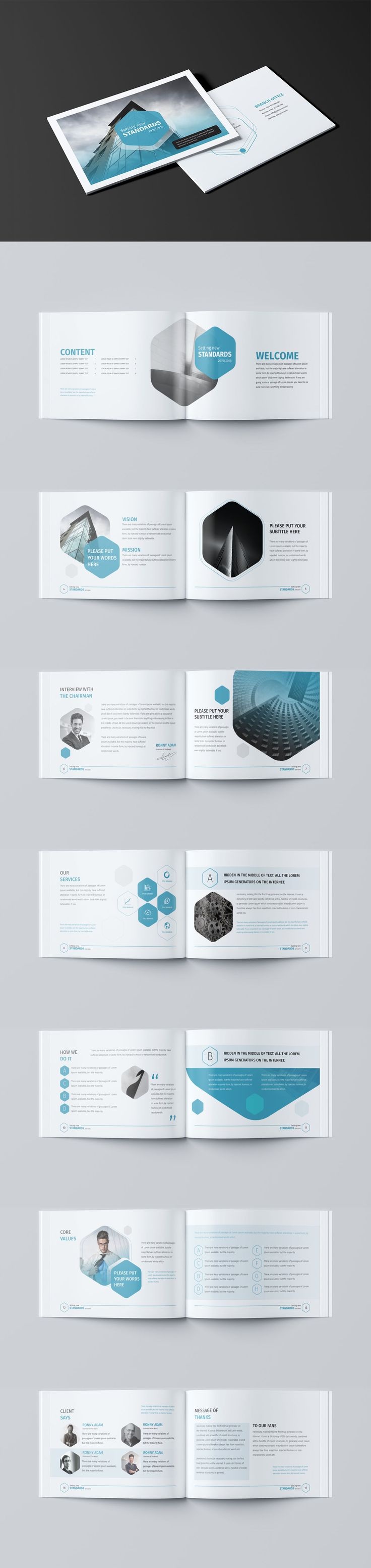 Corporate Business Brochure / Landscape Template InDesign INDD