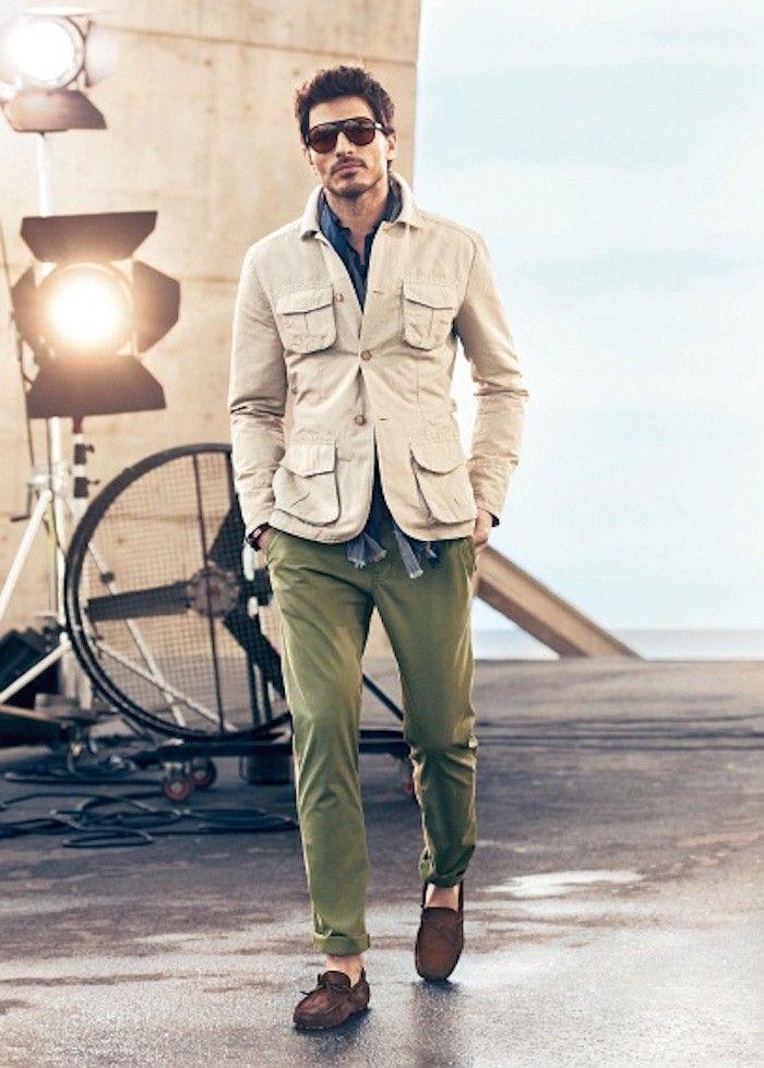 parkas homme imperméable veste beige saharienne