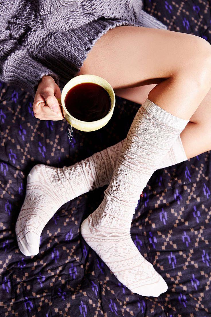 Cozy Textured Knee-High Sock