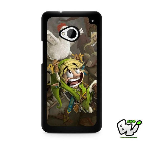 Zelda And White Chicken HTC G21,HTC ONE X,HTC ONE S,HTC M7,M8,M8 Mini,M9,M9 Plus,HTC Desire Case