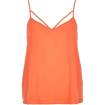 Orange strappy cami top £14.00
