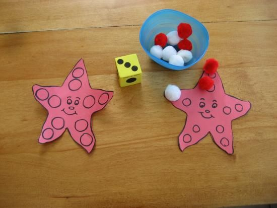 DIY Kids Starfish Counting Game: Kids nice source for crafting and learning activities, just involve with children and have enjoy and fun…
