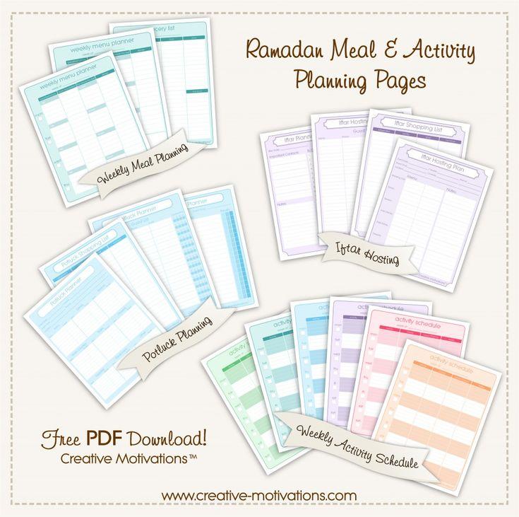 Ramadan Meal & Activity Planner Sample Advert
