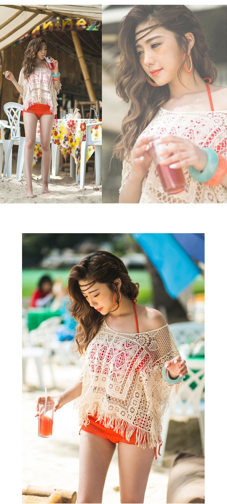 Buy Sunset Hours Crochet Knit Beach Cover-Up | YesStyle