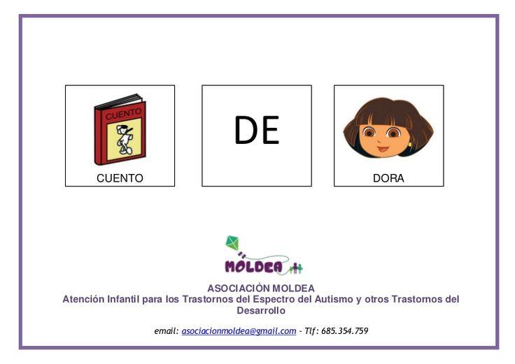 sencillo cuento adaptado con pictogramas, que puede servir de ayuda para realizar descripciones de acciones simples, con la temática de Dora la Exploradora.