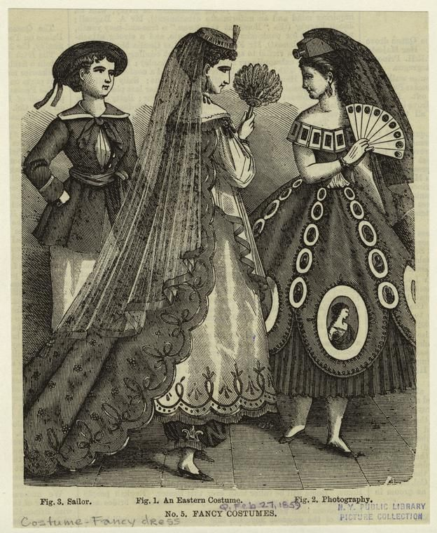 Sailor - An Eastern Costume - Photography. Another fancy dress plate from NYPL, which lists this as 1859.