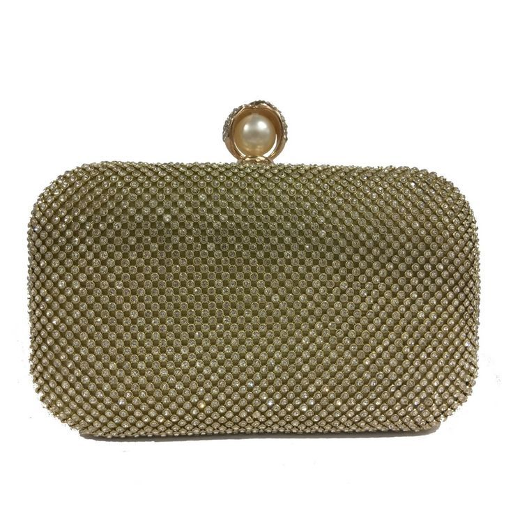 #Gold #bag | Beautiful clutch bag with shimmering stone detail and large pearl fastening. Perfect gift, versatile accessory for any age | clutch bag |clutch bag pattern |Clutch Bags |Clutch Bag |Designer Clutch Bags | Fashion |CLUTCH BAGS |clutch bags |
