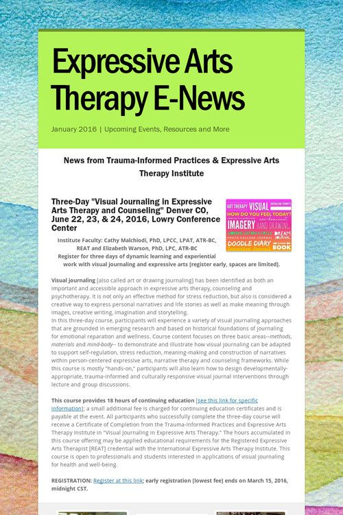 art therapy types and effectiveness Art therapy has often been applied in the treatment of traumatized adults, and good results in clinical practice have been reported however, although art therapy experts underline these benefits, the effectiveness of art therapy in trauma treatment has not been established by systematic review.