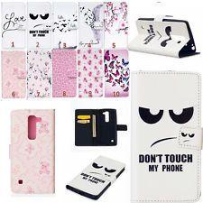 LG Különböző aranyos Nyomtatott Wallet tok PU bőr Flip Card Slot állvány