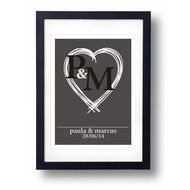 Personalised Wedding Gift A3 Print