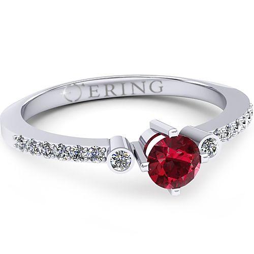 Inel logodna L31ARB inel cu diamant si rubin