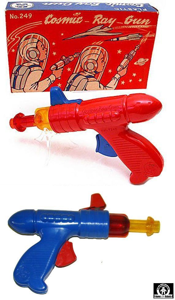 Space Guns - COSMIC RAY GUN NO 249 - RANGER STEEL CORPORATION - USA - ALPHADROME ROBOT AND SPACE TOY DATABASE