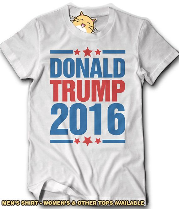 Donald Trump 2016 Election Shirt USA America Election Politics Republican Gift Idea Tee Mens Womens Vote for White House Voting Pro Support