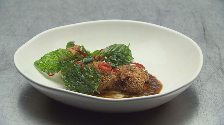 Szechuan Chicken Wings with Mushroom and Basil