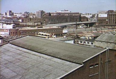 View across Goods Yard to Powerhouse 1978: Helen