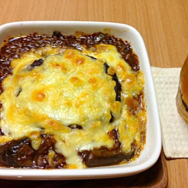 真ん中は豆腐ハンバーグです  ビーフシチューのルーを入れるだけで麻婆茄子がこんなに美味しくなるとは - 16件のもぐもぐ - 麻婆茄子リメイク、ブラウンシチュードリア by konkonmarue