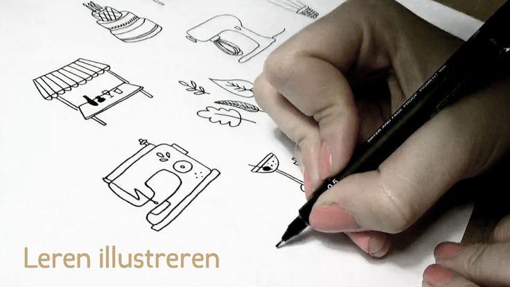 Leren illustreren 2: Herfstblaadjes - http://www.hemelsblauw.net/leren-illustreren-2-herfstblaadjes/