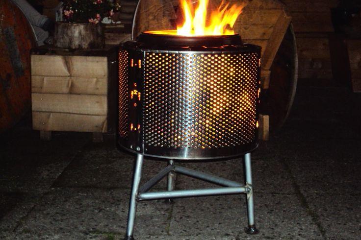 Vuurkorf van een wastrommel .