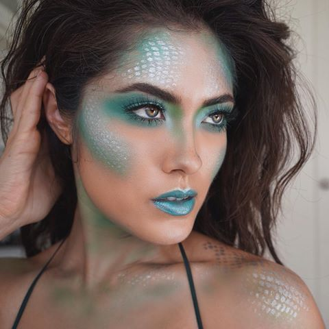 9 Halloween Makeup Tutorials That Will Definitely Turn Heads | http://www.hercampus.com/beauty/9-halloween-makeup-tutorials-will-definitely-turn-heads | Mermaid Makeup Tutorial