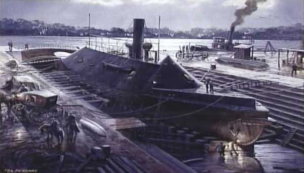 a history of the uss merrimac and the naval warfare of the american civil war Monitor and merrimack, two american warships that fought the first engagement between ironclad ships when, at the beginning of the civil war, the union forces.