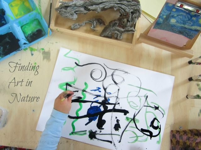 Reggio: Finding art in nature. Van Gogh's Starry Night