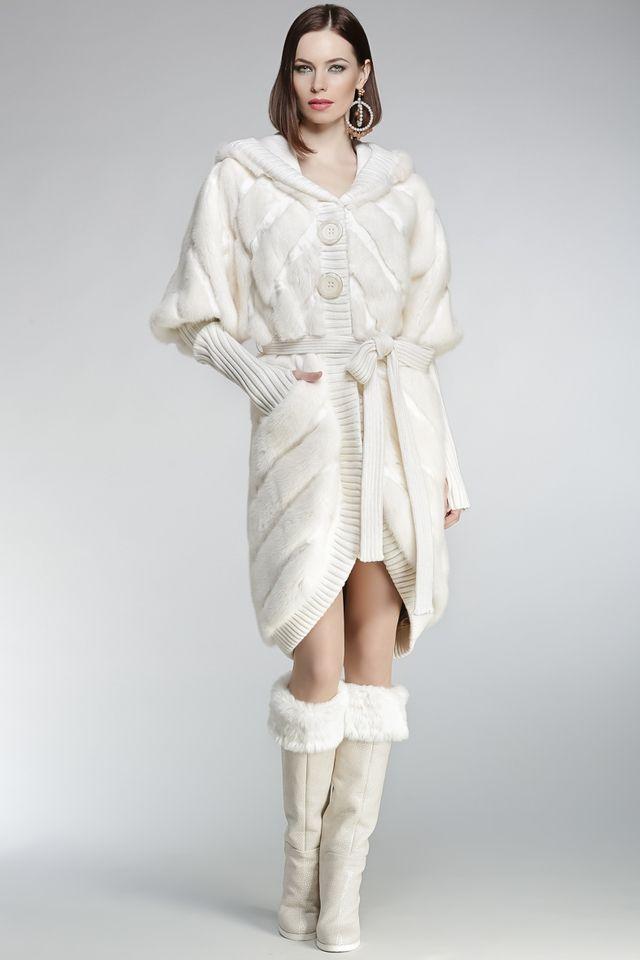 Меховое пальто+пояс IGOR GULYAEV