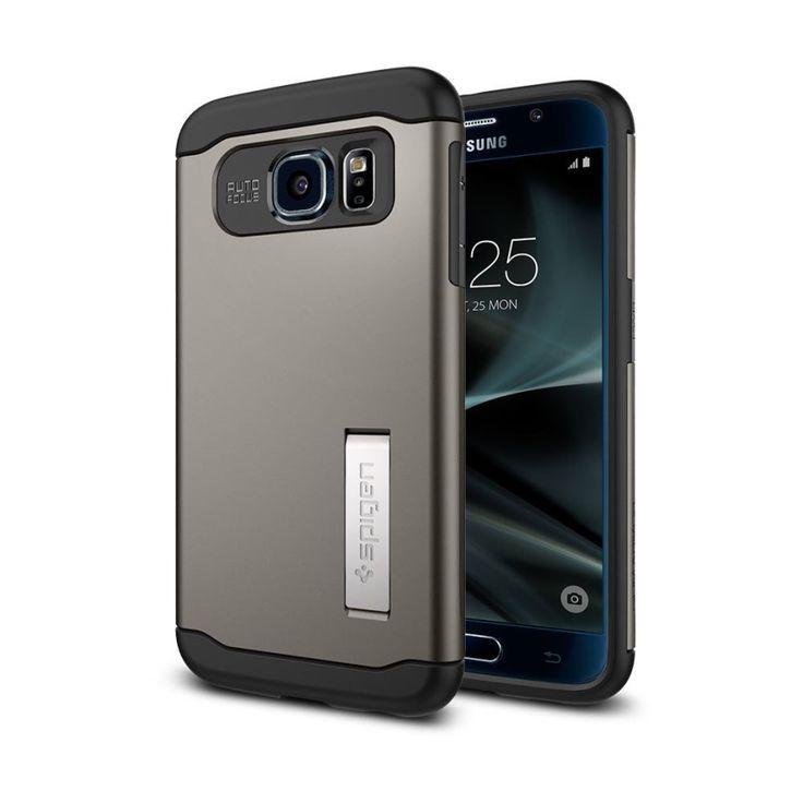 อย่างแรง<SP>SPIGEN เคส Samsung Galaxy S7 Case Slim Armor (Gunmetal)++SPIGEN เคส Samsung Galaxy S7 Case Slim Armor (Gunmetal) (3 รีวิว) ได้รับมาตรฐานการกันกระแทก Military Grade ระดับ MIL-STD 810G 516.6 จากสหรัฐอเมริกา ปกป้องสูงสุด ด้วยเคส 2 ชั้น TPU และฝาหลังโพลีคาร์บอเ ...++