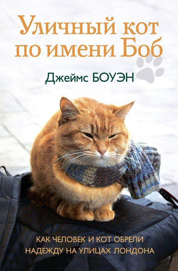 Джеймс Боуэн. Уличный кот по имени Боб. Как человек и кот обрели надежду на улицах Лондона  В этой истории два главных героя – Джеймс Боуэн, уличный лондонский музыкант, и рыжий Боб, уличный лондонский кот.