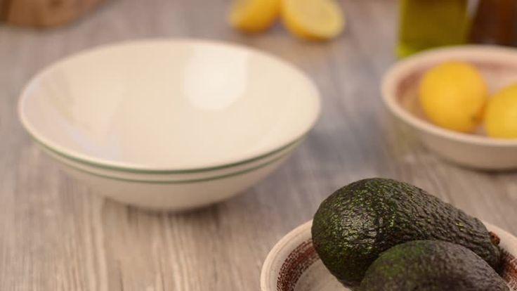 Avocado sprouting, making avocado spread footage delicious