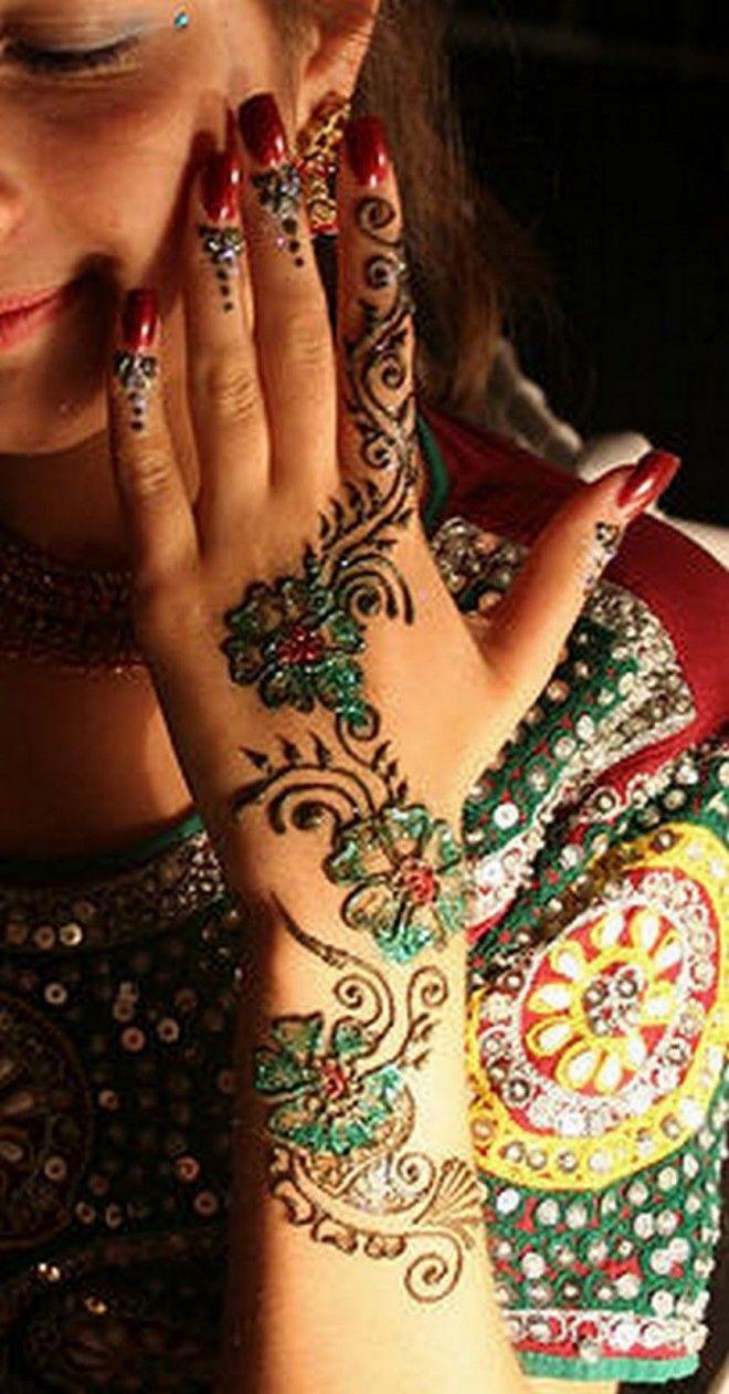 Mehndi with beads
