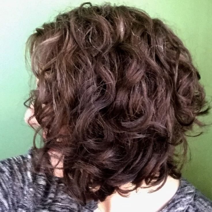 Angled bob for naturally curly hair!