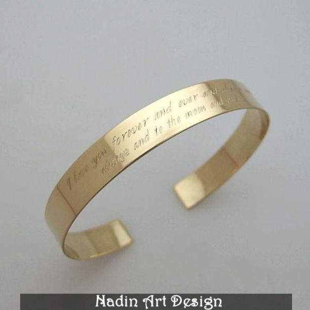 Namensarmbänder - Goldarmband mit Nachricht / Gravur Schmuck - ein Designerstück von NadinArtDesign bei DaWanda