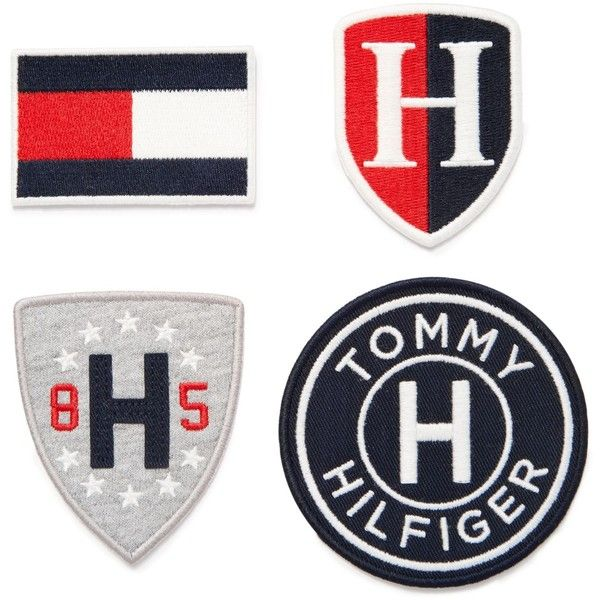 Tommy Hilfiger Iron-On Patches featuring polyvore women's fashion accessories navy tommy hilfiger