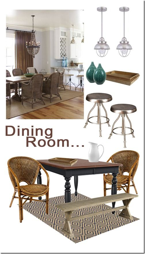 Great dining room mood board ideas  using similar items to create 2  different looks. 66 best Kitchen   Dining Room Mood Boards images on Pinterest