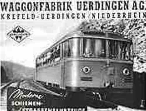 Waggon-Fabrik-Uerdingen-Krefeld-Aktie-Strassenbahn-Eisenbahn-DUEWAG-Siemens-NRW