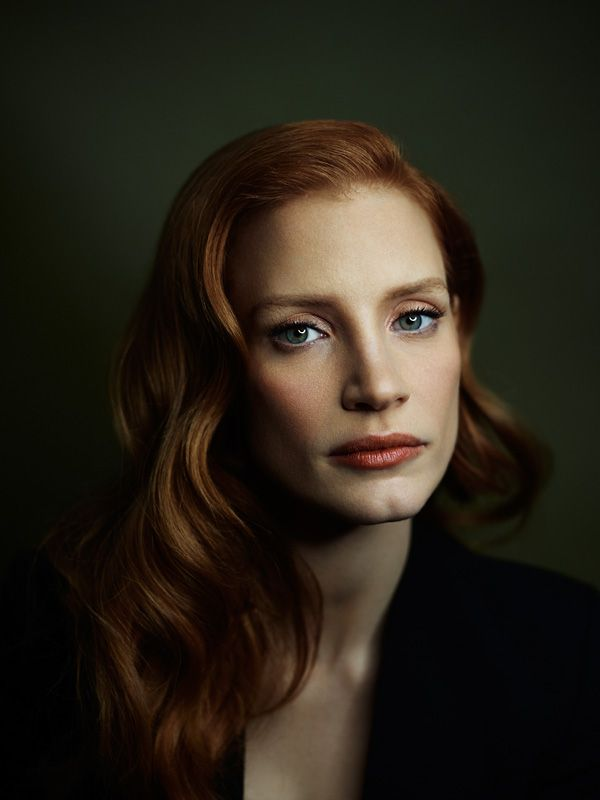 Portrait of Jessica Chastain. I have a little bit of a girl crush on this lady right now! Best actress!