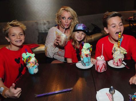Britney Spears takes her boys Preston and Jayden to Disney World on March 13, 2017