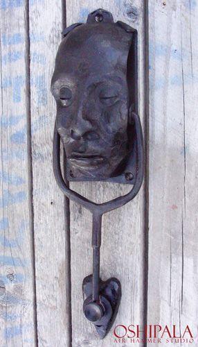 Door Knocker from Finnish blacksmith Jesse Sippola. oshipala.com