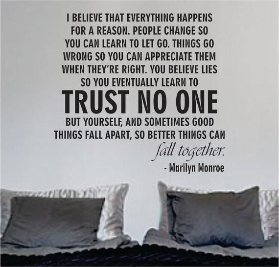 Marilyn Monroe Quotes Better Things Can Fall Together: Best 25+ Trust No One Ideas On Pinterest