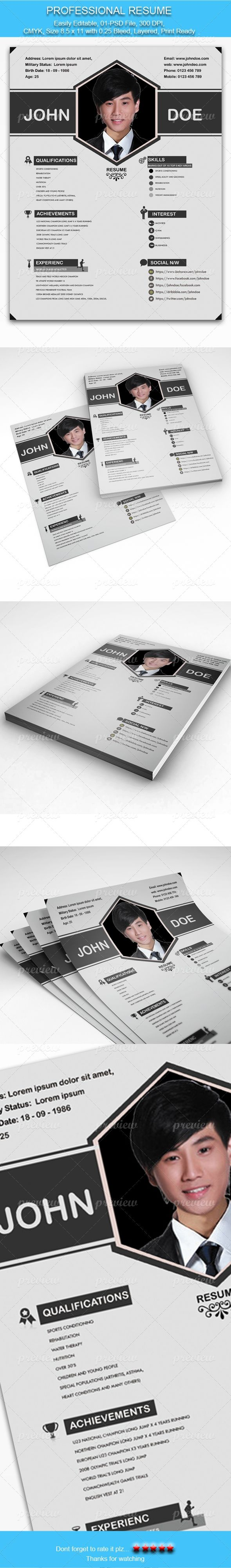 56 best CV images on Pinterest | Resume, Creative resume and Curriculum