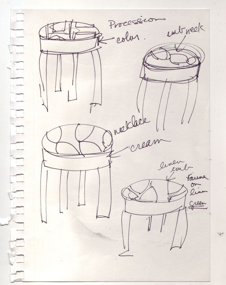 One of the original Artek collaboration drawings form Judy Ross