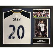 #All Star Signings Dele Alli Signed and Framed Tottenham Hotspurs #Dele is one of the most admired and sort after youngsters in World Football. In 2 years at Surs he has helped elevate both the Spurs And England teams to new heights and he is surely destined for great things. Here is a signed 2016/17 Spurs shirt that is superbly framed and ready to hang. The shirt comes with a certificate of authenticity with photographic evidence inserted into it.
