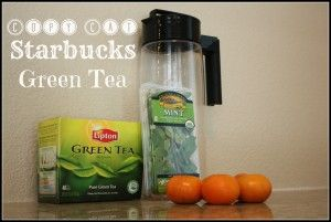{Life of the Farmer's Wife:: Copy Cat Starbucks Green Tea} www.lifeofthefarmerswife.com   Iced Tazo Green Tea just like Starbucks!
