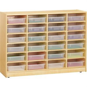 I imagine a really cool way to store LEGO pieces. I would like to shop around for a cheaper price ... possibly, but the design is great! 24 Paper-Tray Mobile Storage - Without Paper Trays