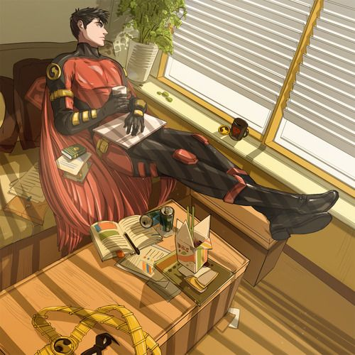 Tim Drake, he isn't my favorite robin...but this picture is awesome